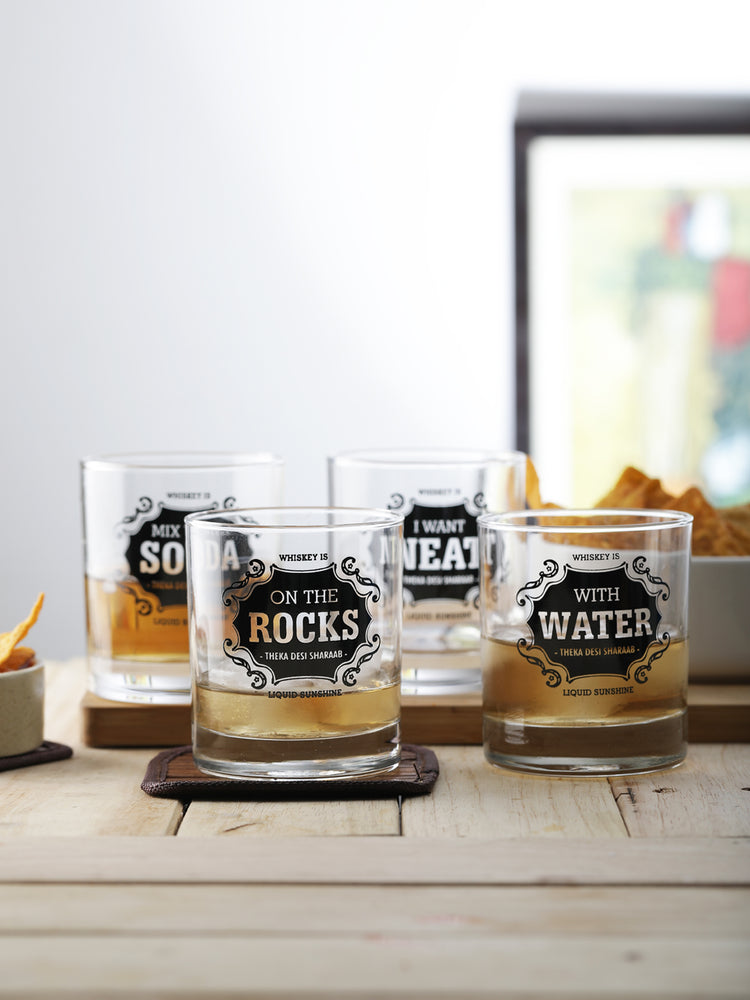 Whiskey for all Glasses (set of 4)
