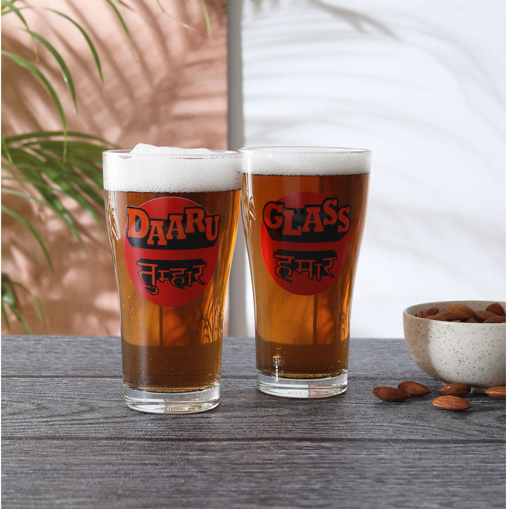 Bhojpuri Beer Glass set of 2 (360ml)
