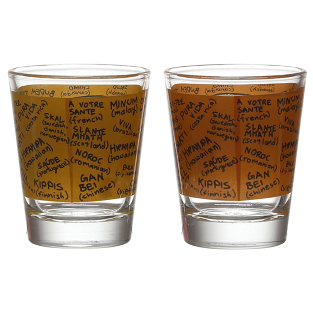 BOTTOMS UP & CHEERS SHOT (GLASS SET OF 2)