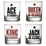 CARDS WHISKEY GLASS (SET OF 4)