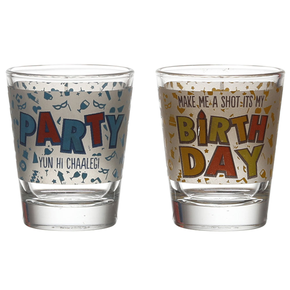 BIRTHDAY- PARTY CHELEGI SHOT GLASS (SET OF 2)
