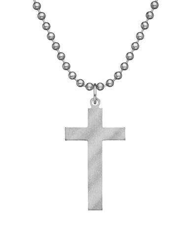 GI JEWELRY Military Issue Stainless Steel Long Cross Necklace