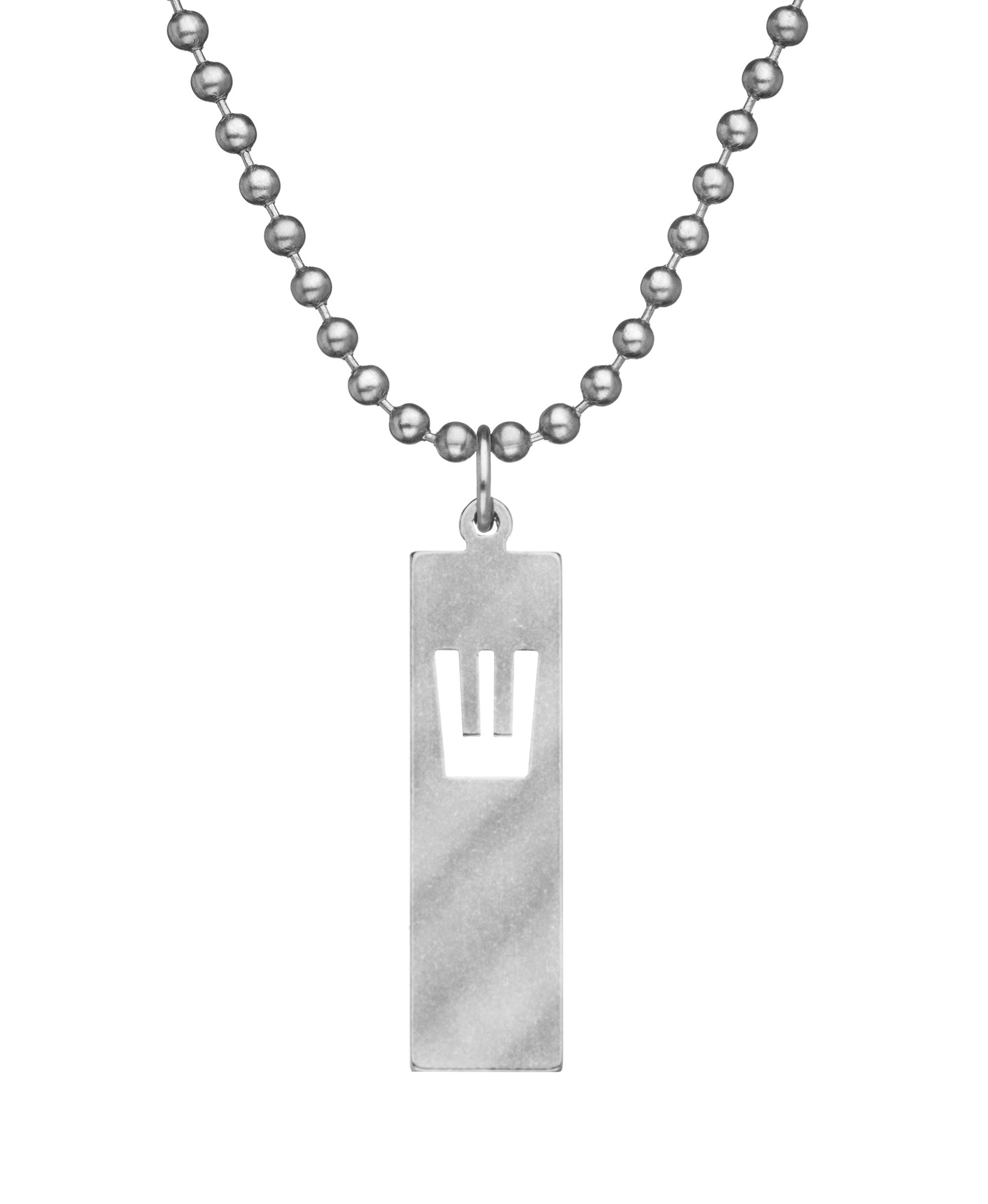 GI JEWELRY Military Issue Stainless Steel Mezuzah Necklace