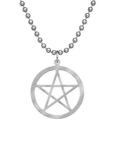 GI JEWELRY Military Issue Stainless Steel Pentacle Necklace