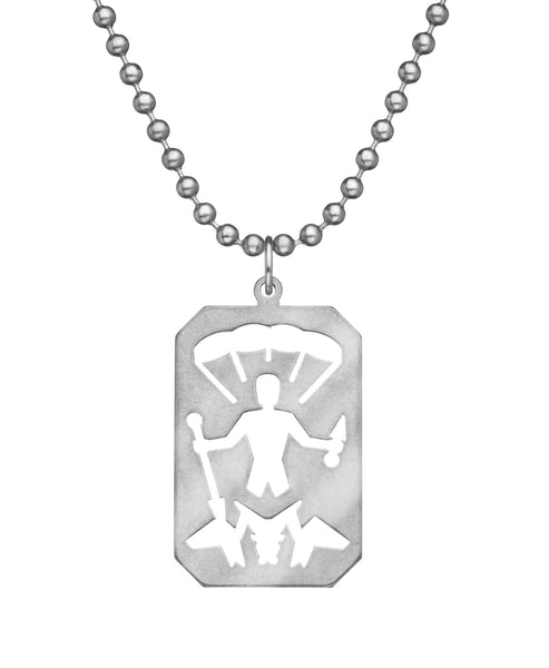 GI JEWELRY Military Issue Stainless Steel Saint Michael Necklace