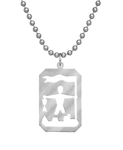 GI JEWELRY Military Issue Stainless Steel St. Florian Necklace