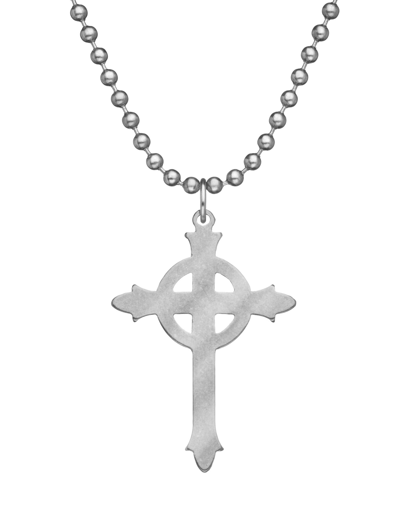 GI JEWELRY Military Issue Stainless Steel Ladies Presbyterian Cross Necklace