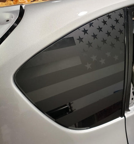 American Flag Side Window Decal [For 08-14 WRX/STI Hatch] - Rakkasan Motorsports