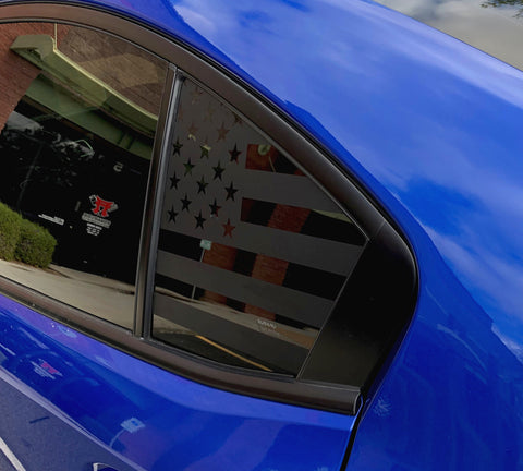 American Flag Side Window Decal [For 15+ WRX/STI] - Rakkasan Motorsports