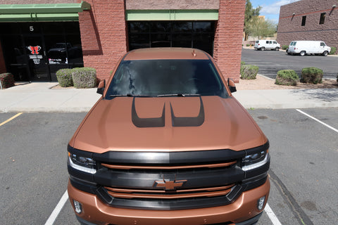 Hood Stripe Kit [For 14-18 Silverado] - Rakkasan Motorsports