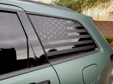 American Flag Side Window Decal [For 11-18 Grand Cherokee WK2] - Rakkasan Motorsports