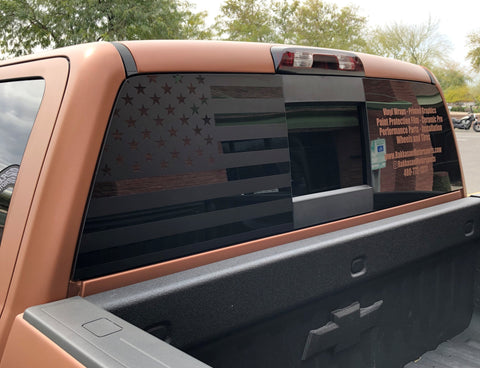 American Flag Rear Window Decal [For 14-18 Silverado] - Rakkasan Motorsports
