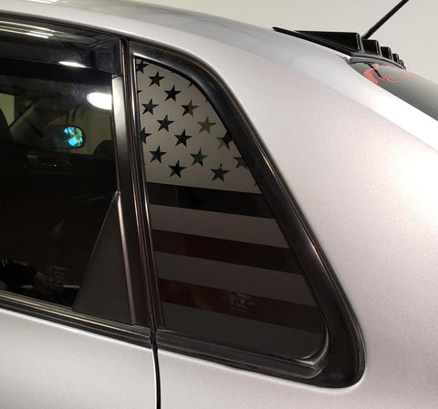 American Flag Side Window Decal [For 08-14 WRX/STI Sedan] - Rakkasan Motorsports