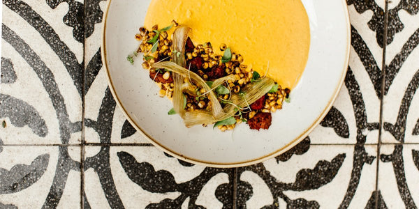 Curried Carrot and Roasted Corn Kernel Soup