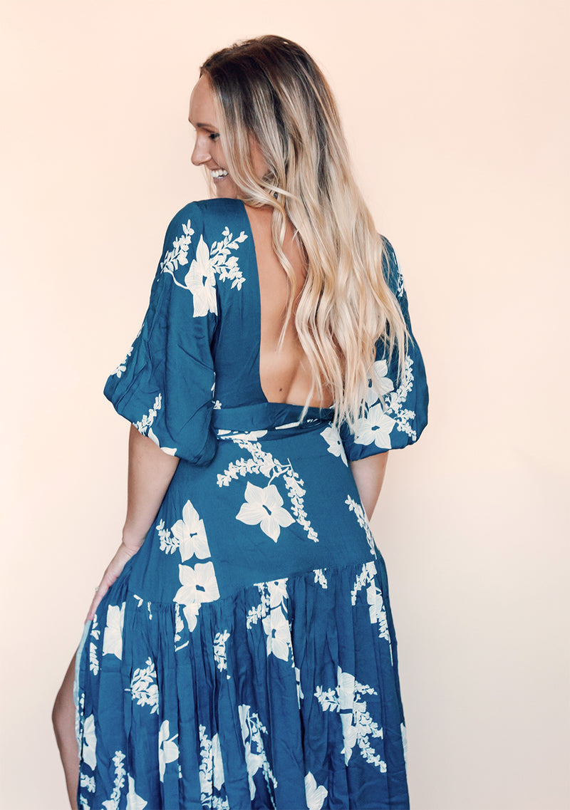 Amare Dress | Indigo Blue - Salt and Thread Co.