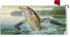 Large Mouth Bass Standard Size Mailbox Cover, #0171