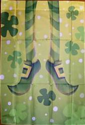 Leaping Leprechaun Garden Flag,  #141062