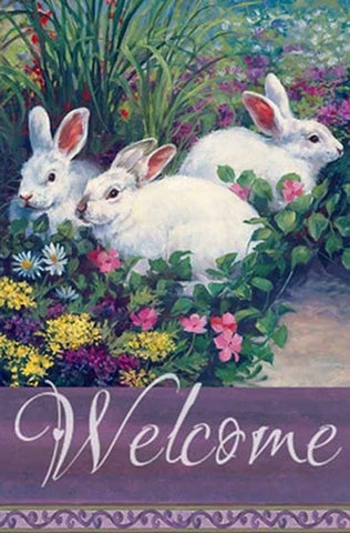 Welcome Easter Garden Flag,  #g00017