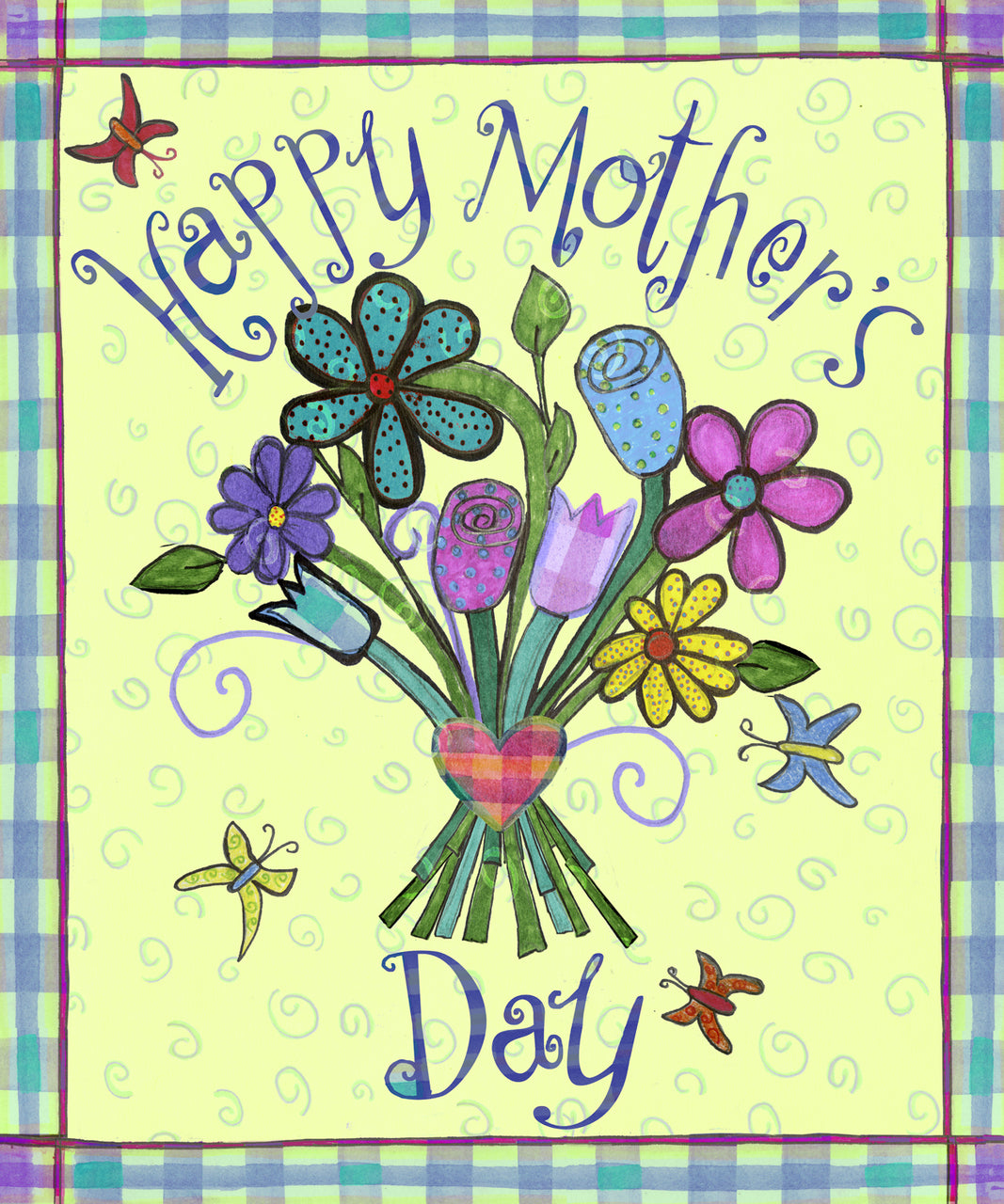 Mother's Day Bouquet Garden Flag,  # GE0008