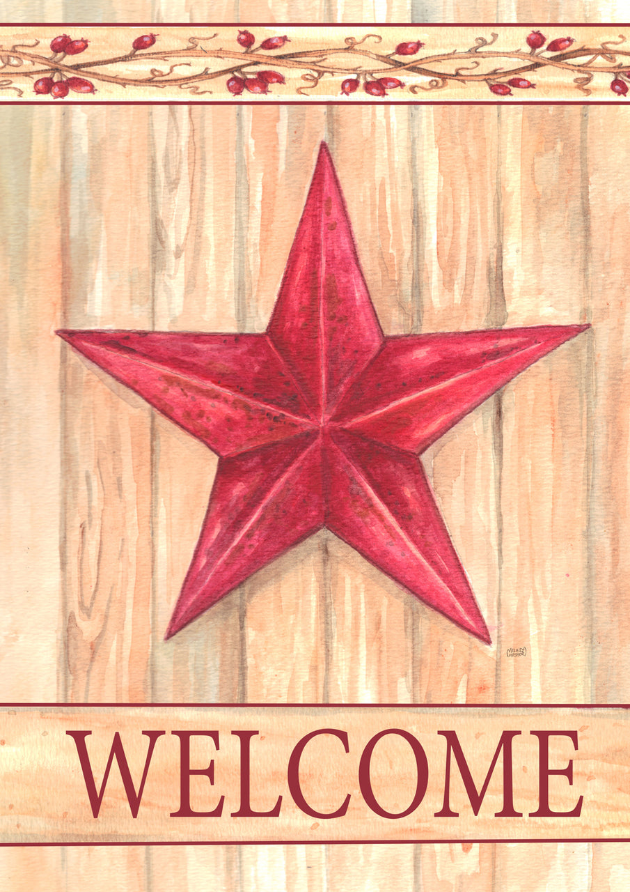 Barn Star Welcome Garden Flag, #GE0015