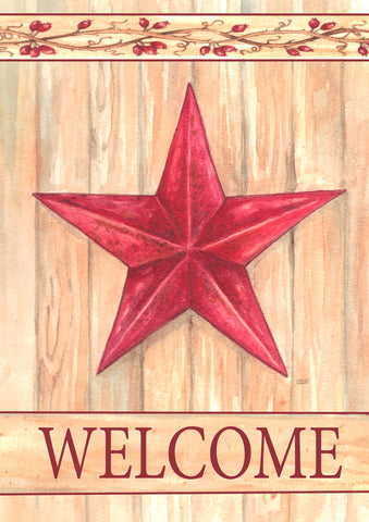 Barn Star Welcome House Flag,  #HE0015