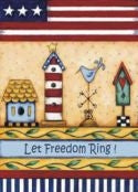 Let Freedom Ring Birdhouses Garden Flag,  #FS112