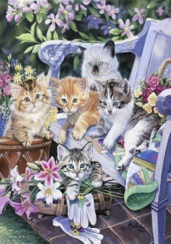 Purfect Gardening Buddies House Flag,  #HE0006