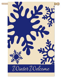 Winter Welcome Applique House Flag,  #158267