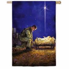 A Soldier's Christmas House Flag,  #13A2470
