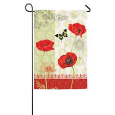 Poppy Garden House Flag,  # 13S2764