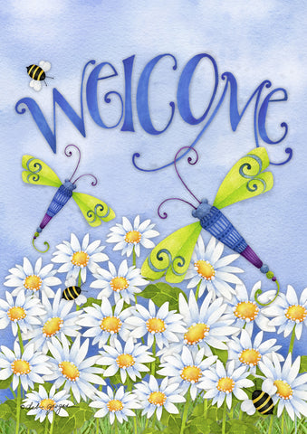 Dragonfly Welcome Garden Flag, #G00024