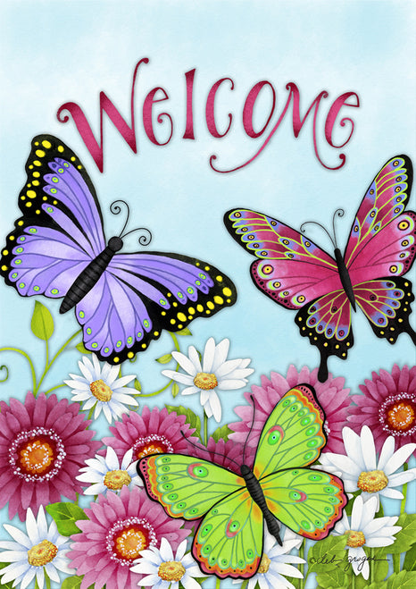 Welcome Butterfly Garden Flag, #G00034