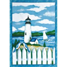 Lighthouse Garden Flag, #G00035