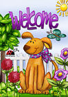 Welcome Dog Garden Flag, #G00023