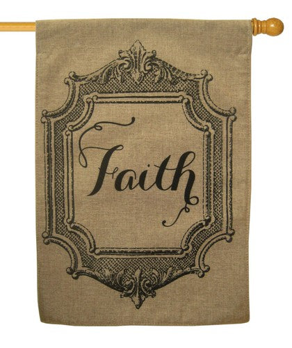 Burlap Faith House Flag,  # 13B2941