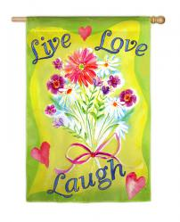 Live Laugh Love Garden Flag,  #141426