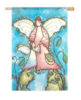 Love Earth Angel Garden Flag,  #141325