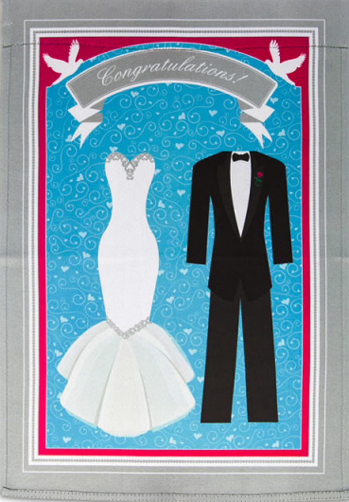 Wedding Congratulations Garden Flag,  # B14GC2537