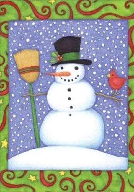 Top Hat Snowman Garden Flag,  #110561
