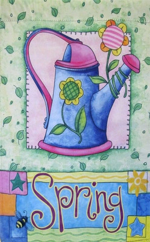 Spring Watering Can Garden Flag,  #z142s056