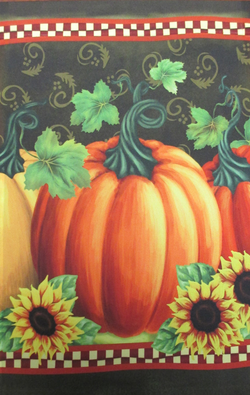 Pumpkin with Flowers Garden Flag,  #KLY1248008