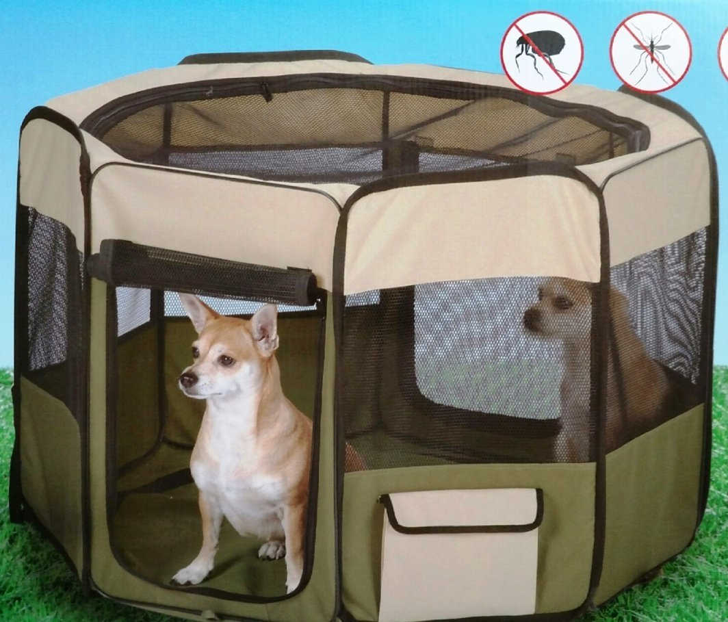 Built-in Insect Protection Exercise Pen, Medium