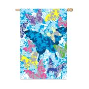 Mixed Print Butterflies House Flag, #131284