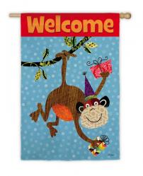 Monkey Welcome Garden Flag, # 141744