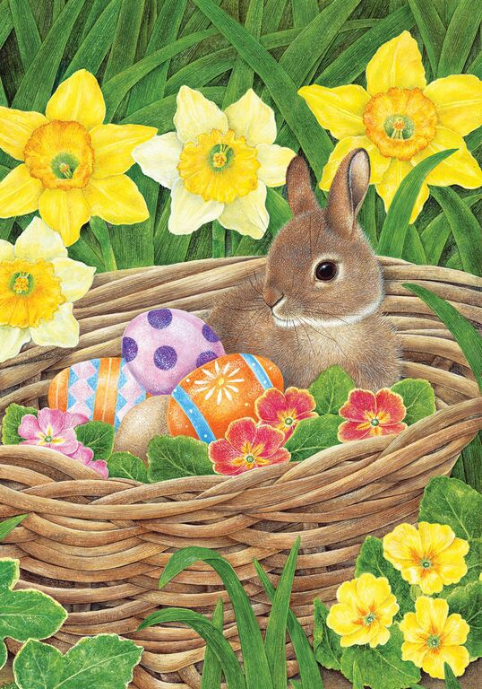 Easter Egg Basket Garden Flag,  #G00112