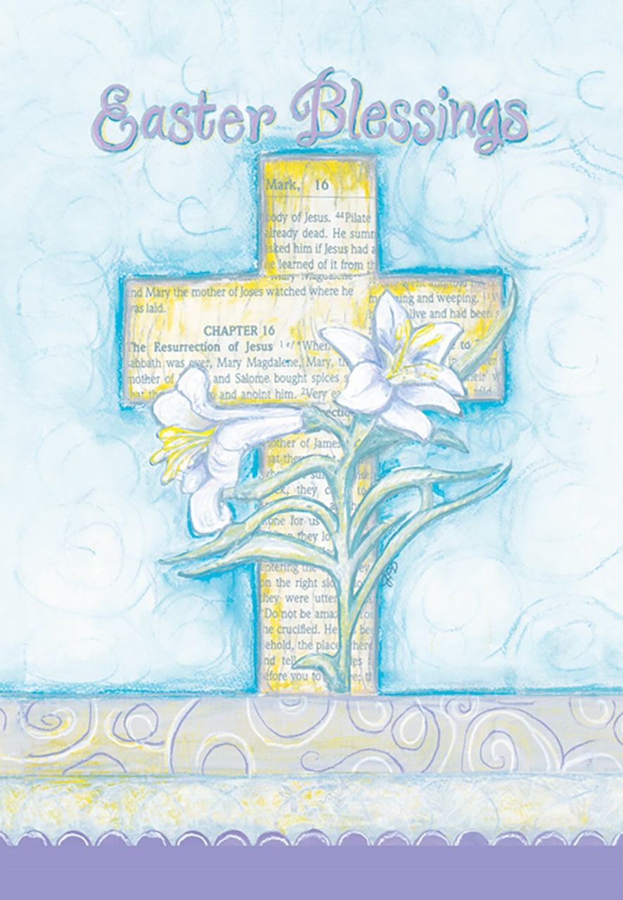 Easter Blessings Garden Flag,  #g00117