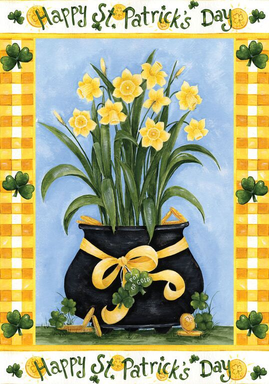 Happy St. Patrick's Day Garden Flag,  #g00111
