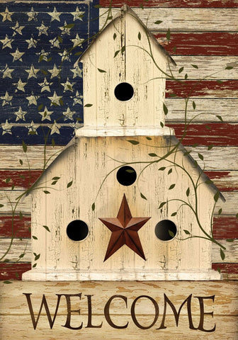 Americana Welcome Garden Flag,  #G00118