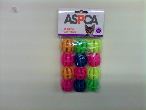 Aspca 12 piece Cat Toys, Balls with Bells