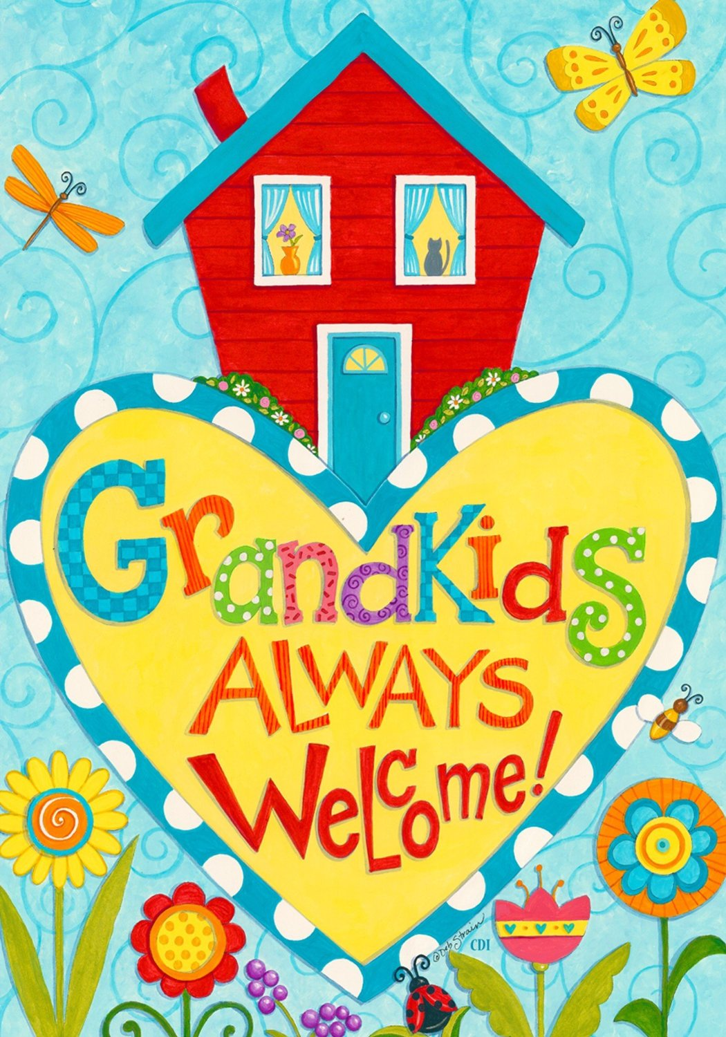 Grandkids Always Welcome Garden Flag, #1502FM